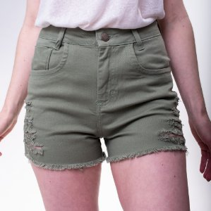 SHORT FEMININO DESTROYED