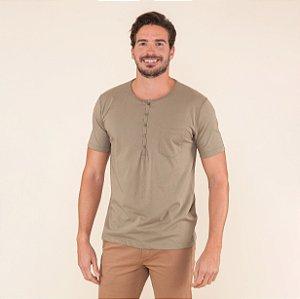 Camiseta Masculina Com Botões