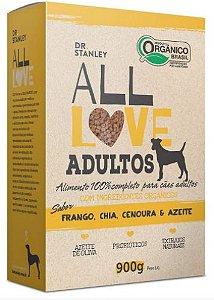 Ração All Love Adultos 900gr Sabor Frango, Chia, Quinoa E Azeite