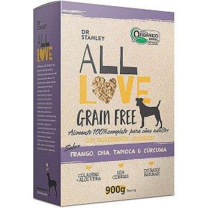 Ração All Love Grain Free  900gr Sabor Frango, Chia, Tapioca & Cúrcuma