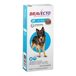 Bravecto Para Cães De 20 A 40kg