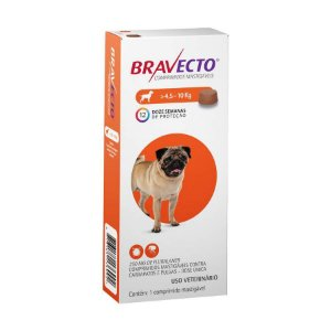 Bravecto 4,5 a 10kg: Comprimido para Carrapato 250mg
