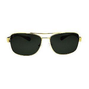 Óculos Masculino Linha Clássicos - Polarizado - Verde com Dourado