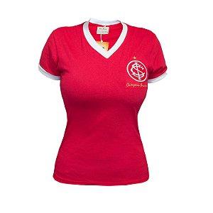 Camisa Retrô Feminina Internacional 1975