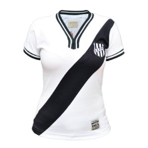 Camisa Retrô Feminina Ponte Preta 1977 Branca
