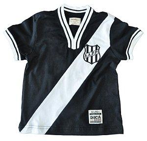 Camisa Retrô Infantil Ponte Preta 1977 Preta