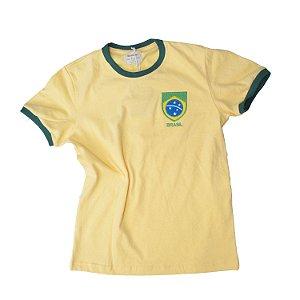Camisa Retrô Juvenil Brasil - Careca Amarela