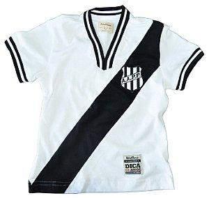 Camisa Retrô Juvenil Ponte Preta 1977 Branca