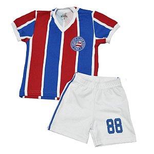 Kit Infantil Camisa Retrô Bahia 1988