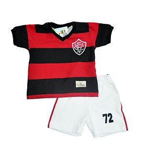 Kit Infantil Camisa Retrô EC Vitória 1972