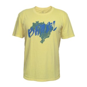 Camisa Casual Brasil Mapa