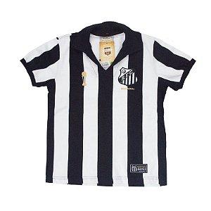 Camisa Retrô Juvenil Santos Bimundial Listrado 62/63