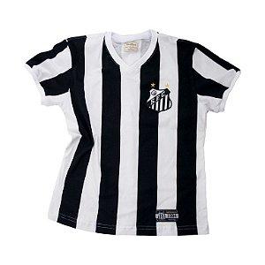 Camisa Retrô Juvenil Santos 1984 Listrado