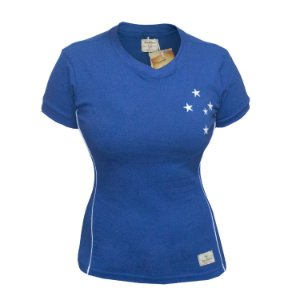 Camisa Retrô Feminina Cruzeiro 2003 Copa do Brasil