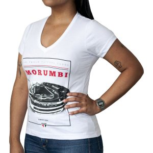 Camisa Retrô Feminina Camisa Casual São Paulo Morumbi
