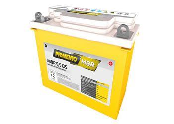 Bateria 5,5 amperes - Marca Pioneiro para Moto YBR