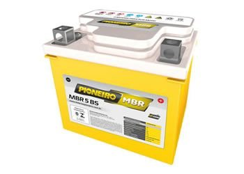 Bateria 5 amperes - Marca Pioneiro para  Motos Titan 150 / Titan 2000 / Fan  2009 / Biz 125 / Bros 150