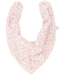 Babador Bandana Forro Impermeavel, Floral Rosa, Oogie