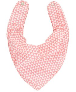 Babador Bandana Forro Impermeavel, Geométrico Coral, Oogie