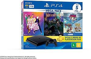 Console Playstation 4 Slim 1TB Mega Pack  - PS4