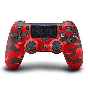 Controle Dualshock 4 - Vermelho - Camuflado