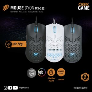 Mouse Gamer Dyon - MS322 - OEX