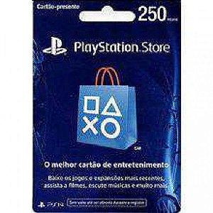Cartão Presente PlayStation Store - R$250