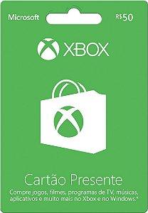 Cartão Presente Xbox Live Gold - R$ 50