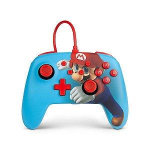 Controle Powera zul mario punch azul -Switch -