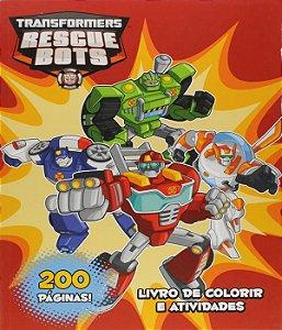 Transformers - Rescue Bots - Livro De Colorir E Atividades