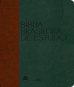 Bíblias Brasileira De Estudo : Marrom / Verde