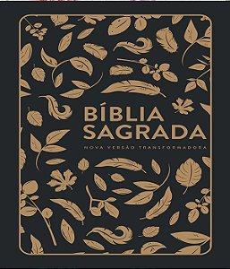 Bíblias Nvt Lg Capa Soft Touch - Folhas Douradas
