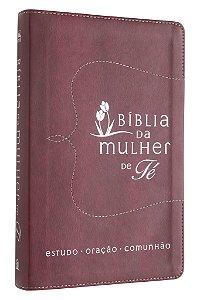 BÍblia Da Mulher De Fé, Nvi, Couro Soft, Vermelho