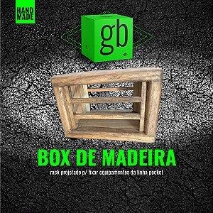 BOX DE MADEIRA - Rack de Madeira p/ fixar Equipamentos da Linha Pocket