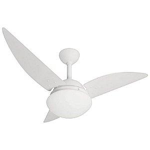 Ventilador de Teto Infinity 1040 Classic Branco 3 Pás Lustre Leitoso