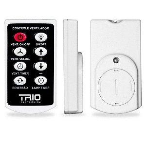 Controle Remoto Ventilador Teto e Lâmpada com Timer TRIO