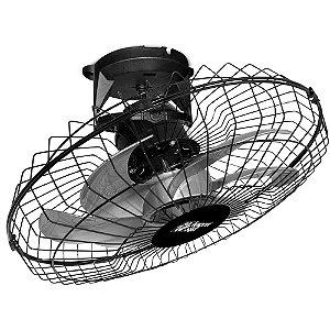 Ventilador de Teto Loren Sid Turbo 50cm Orbital Giro 360 Preto Bivolt