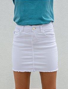 Saia Jeans Branca
