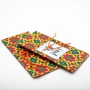 Tecido de Cera - Mandala Flores Amarelas - G