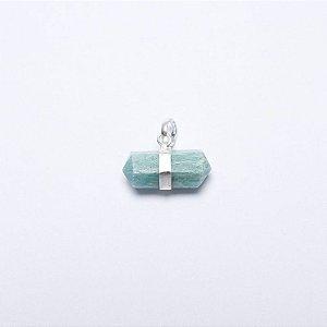 Pingente Cristal Amazonita Horizontal
