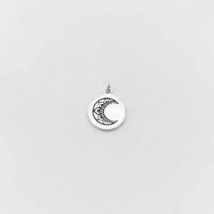 Pingente Medalha Meia Lua