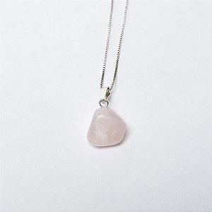 Pingente Pedra Quartzo Rosa
