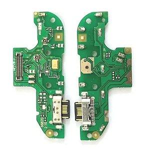 Conector De Carga Microfone Moto G8 Play
