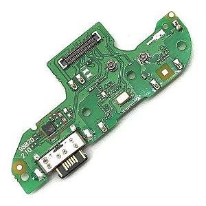 Conector De Carga Microfone Moto G8 Play Placa Usb
