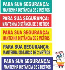 06 FAIXAS  PARA DISTÂNCIAMENTO RETÂNGULAR