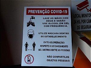 01 PLACA PREVENÇÃO COVID 19