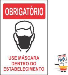 03 ADESIVOs OBRIGATÓRIO USO DE MÁSCARA