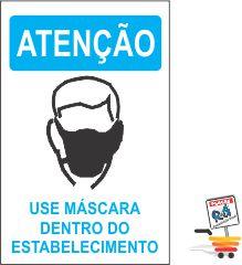 03 ADESIVOs ATENÇÃO USO DE MÁSCARA