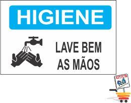 03 ADESIVOS HIGIENE LAVE BEM AS MÃOS