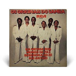 """7"""" Os Originais do Samba - Na mesma rua / Mundo de Paz / Bebedeira do Zé / Rio antigo"""